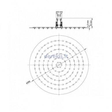 Juoda potinkinė dušo sistema Deante ARNIKA NAC N9QP 4