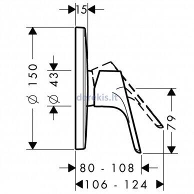 Potinkinis dušo maišytuvas Hansgrohe Focus 31965000 2