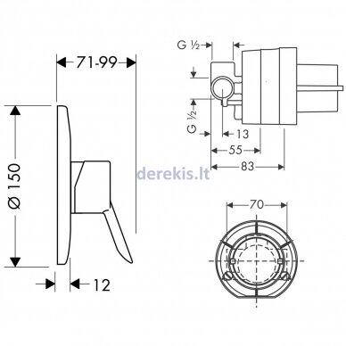 Potinkinis dušo maišytuvas Hansgrohe Focus 31966000 2