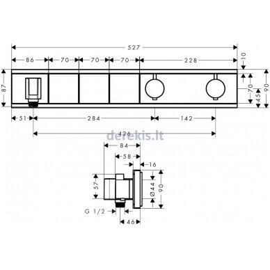 Potinkinis dušo termostatas Hansgrohe RainSelect 15356000 2