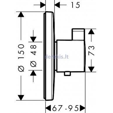 Potinkinis termostatinis dušo maišytuvas Hansgrohe Ecostat S 15756000 2