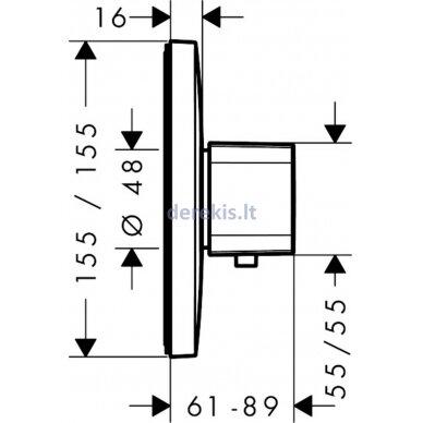 Potinkinis termostatinis maišytuvas Hansgrohe Ecostat E 15706000 2
