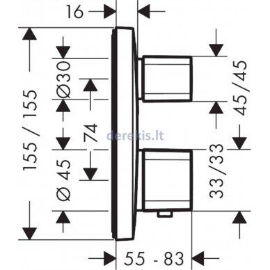 Potinkinis termostatinis maišytuvas Hansgrohe Ecostat E 15707000 2