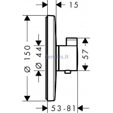 Potinkinis termostatinis maišytuvas Hansgrohe Ecostat S 15755000 2