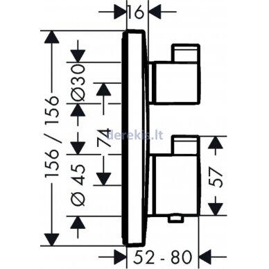 Potinkinis termostatinis maišytuvas Hansgrohe Ecostat Square 15714000 2