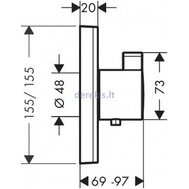 Potinkinis termostatinis maišytuvas Hansgrohe ShowerSelect 15760000 2