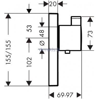 Potinkinis termostatinis maišytuvas Hansgrohe ShowerSelect 15761000 2