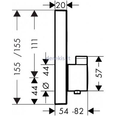 Potinkinis termostatinis maišytuvas Hansgrohe ShowerSelect 15762000 2