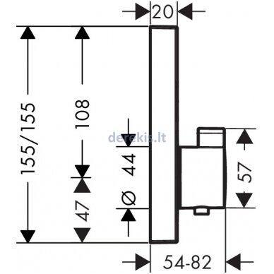 Potinkinis termostatinis maišytuvas Hansgrohe ShowerSelect 15763140 2
