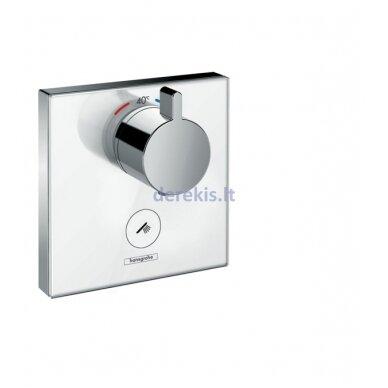 Potinkinis termostatinis maišytuvas Hansgrohe ShowerSelect Glass 15735400