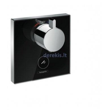 Potinkinis termostatinis maišytuvas Hansgrohe ShowerSelect Glass 15735600