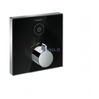 Potinkinis termostatinis maišytuvas Hansgrohe ShowerSelect Glass 15737600