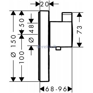 Potinkinis termostatinis maišytuvas Hansgrohe ShowerSelect S 15742000 2