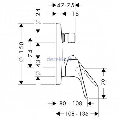 Potinkinis vonios maišytuvas Hansgrohe Focus 31946000 2