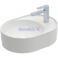 Praustuvas Villeroy&Boch Collaro 4A1553RW (Stone White CeramicPlus) 51x38 cm