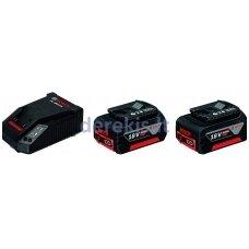 Priedų rinkinys Bosch GBA 18 V-Li 2x4,0 Ah, 1600A002F8