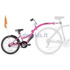 Prijungiamas dviratis WeeRide CO-PILOT Rožinis