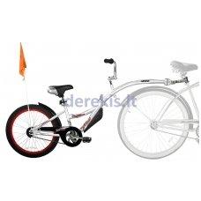Prijungiamas dviratis WeeRide CO-PILOT Sidabrinis