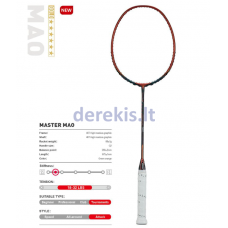 Profesionali badmintono raketė Kawasaki Mao green/orange