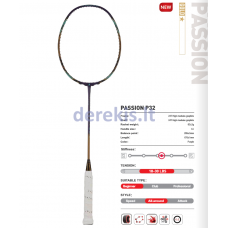 Profesionali badmintono raketė Kawasaki Passion P32 purple