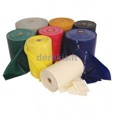Profesionali elastinė plokščia guma MS - geltona 1-45,5m (įplėšus neplyšta)