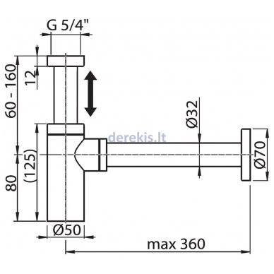 Praustuvo sifonas Ravak X01371 3