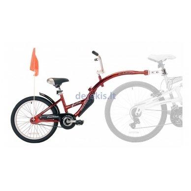 Prijungiamas dviratis WeeRide PRO-PILOT Raudonas