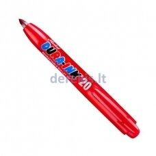 Rašalo markeris Markal Dura-Ink 20, automatinis, RAUDONAS 1,5 mm