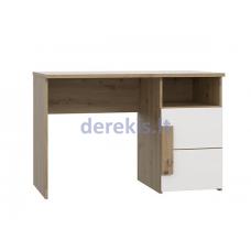 Rašomasis stalas Forte ARKINA, baltas/ąžuolo