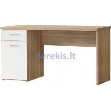 Rašomasis stalas Forte MT936 Q36, baltas/ąžuolo