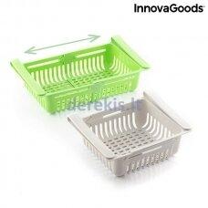 Reguliuojamas šaldytuvo dėklas - stalčius InnovaGoods Friwer (2 vnt.)