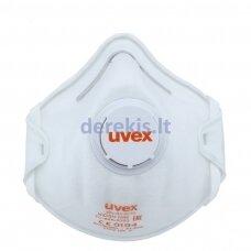 Respiratorius Uvex Silv-Air Classic 2210 FFP2, puodelio tipo su vožtuvu, baltas, 3 vnt mažmeninėje pakuotėje