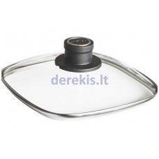 Kvadratinis stiklinis dangtis - su rankenėle 24 x 24 cm Ø WOLL S224