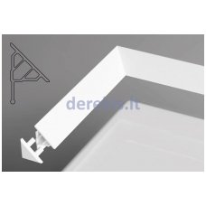 Sandarinimo apdailos juostelė Ravak 10/1100 balta, XB451100001
