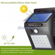 Saulės baterijos LED šviestuvas su judesio davikliu 20 smd