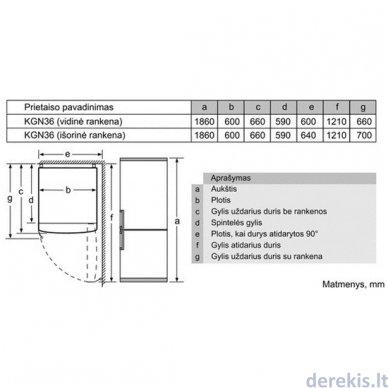 Šaldytuvas Bosch KGN36XI35 3