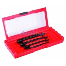 Set of stud extractors for broken-off screws, bolts and studs including 4 sizes: M5-M10; M8- M14; M12-M20; extractors M16-M24