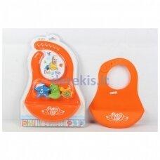 Silikoninis seilinukas su žaisliukais