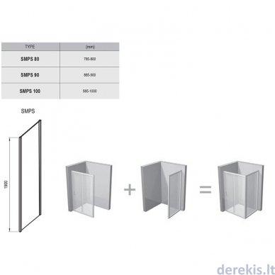 Sienelė RAVAK SMPS-100 L chromas+stiklas Transparent (9SLA0A00Z1) 3