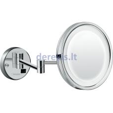 Skutimosi veidrodis su LED apšvietimu Hansgrohe Logis 73570000, chromo