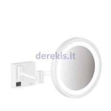 Skutimosi veidrodis su LED lempute Hansgrohe AddStoris, baltas matinis, 41790700