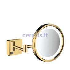 Skutimosi veidrodis su LED lempute Hansgrohe AddStoris, Polished Gold Optic, 41790990