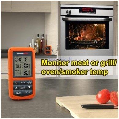 Skaitmeninis bevielis maisto termometras ThermoPro TP-20 6