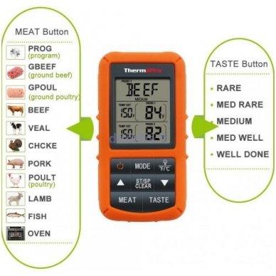 Skaitmeninis bevielis maisto termometras ThermoPro TP-20 2