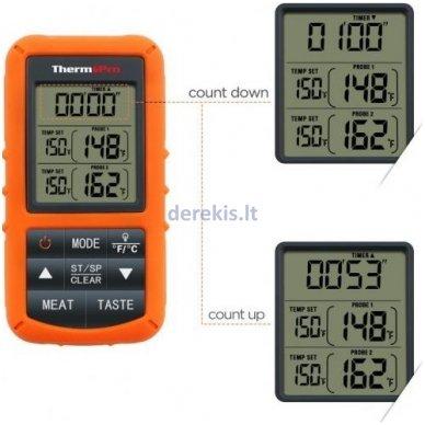 Skaitmeninis bevielis maisto termometras ThermoPro TP-20 3