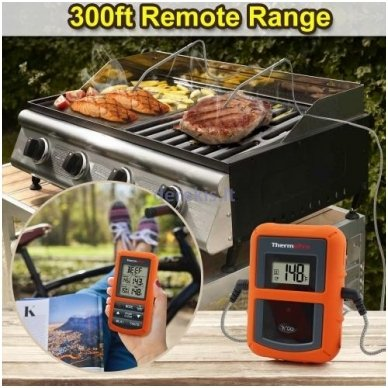 Skaitmeninis bevielis maisto termometras ThermoPro TP-20 7