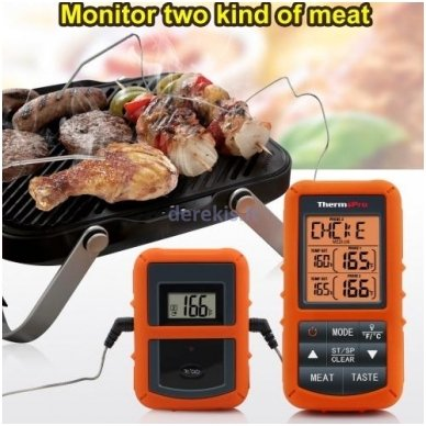 Skaitmeninis bevielis maisto termometras ThermoPro TP-20 5