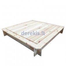 Smėlio dėžė Dobar KC11060, su dangčiu, 119 x 119 x 20 cm