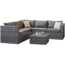 Sodo baldų komplektas Domoletti Sevilla GFS6040, pilkas, 4 vietų