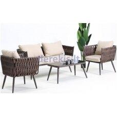 Sodo baldų komplektas Masterjero A114, rudas, 1-4 vietų